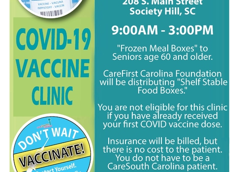 CareSouth Carolina, Vantage Point & CareFIRST Carolina Foundation providing COVID-19 Vaccine Clinic
