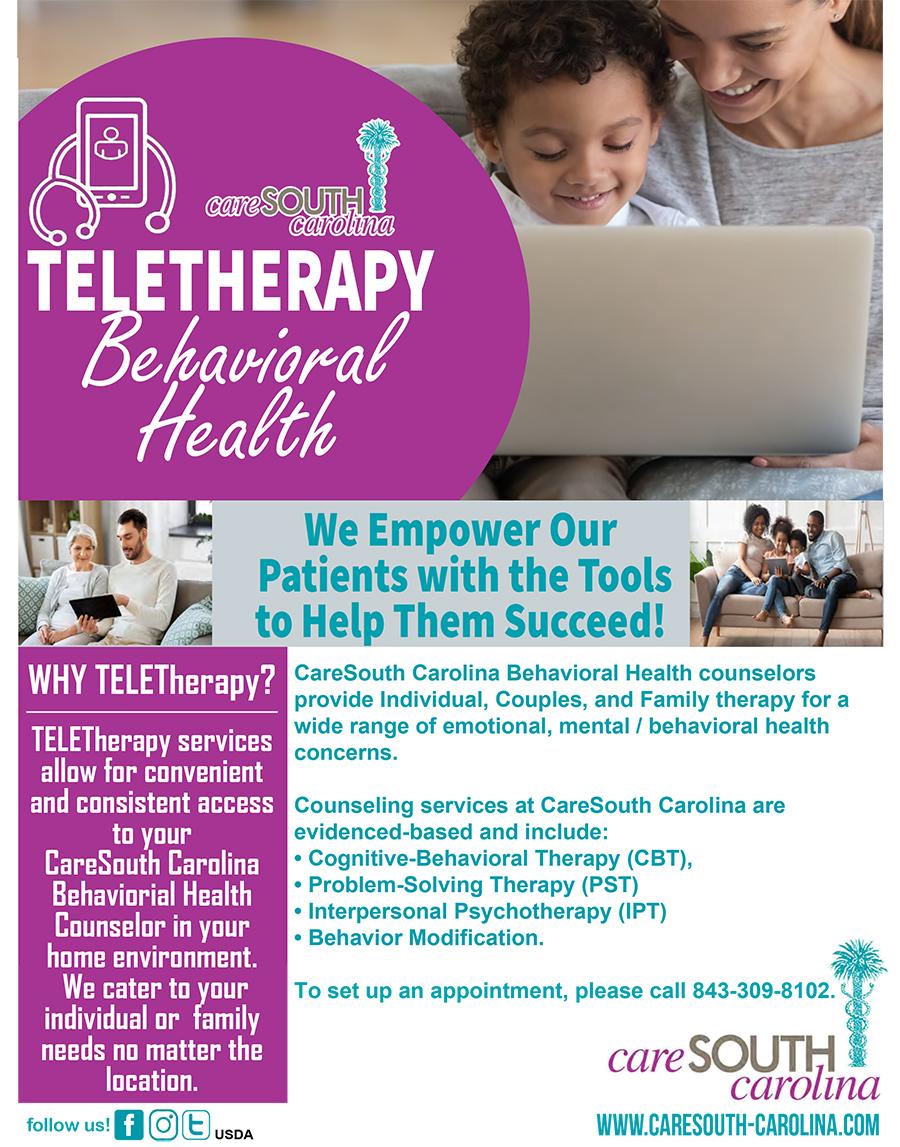 CareSouth Carolina providing remote counseling services