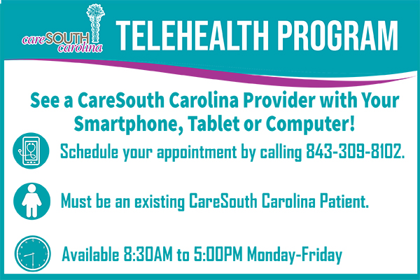 FAQs: Telehealth visits at CareSouth Carolina