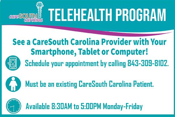 FAQs: Telehealth visits at CareSouth Carolina