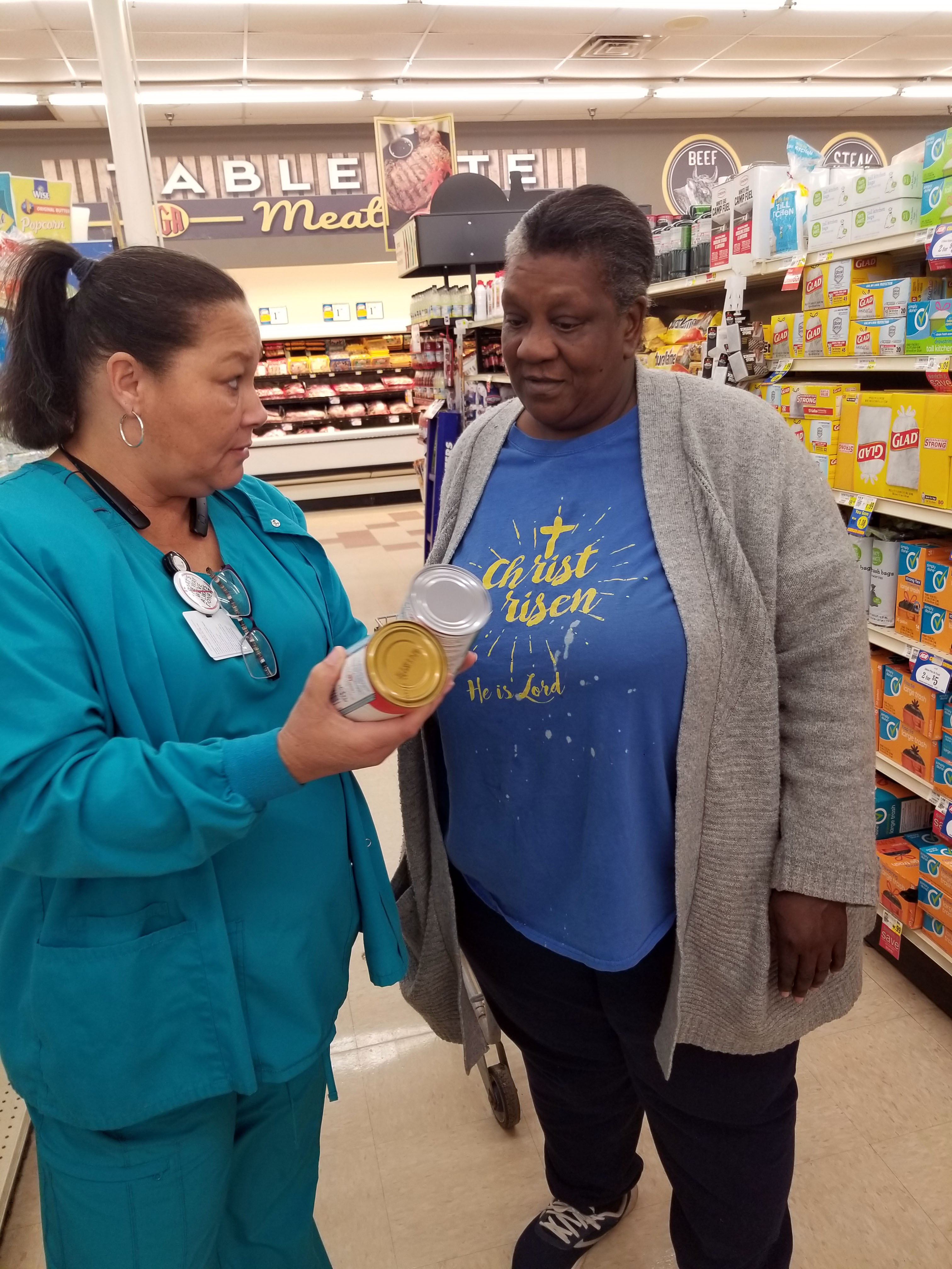 CareSouth Carolina grocery shopping with patients