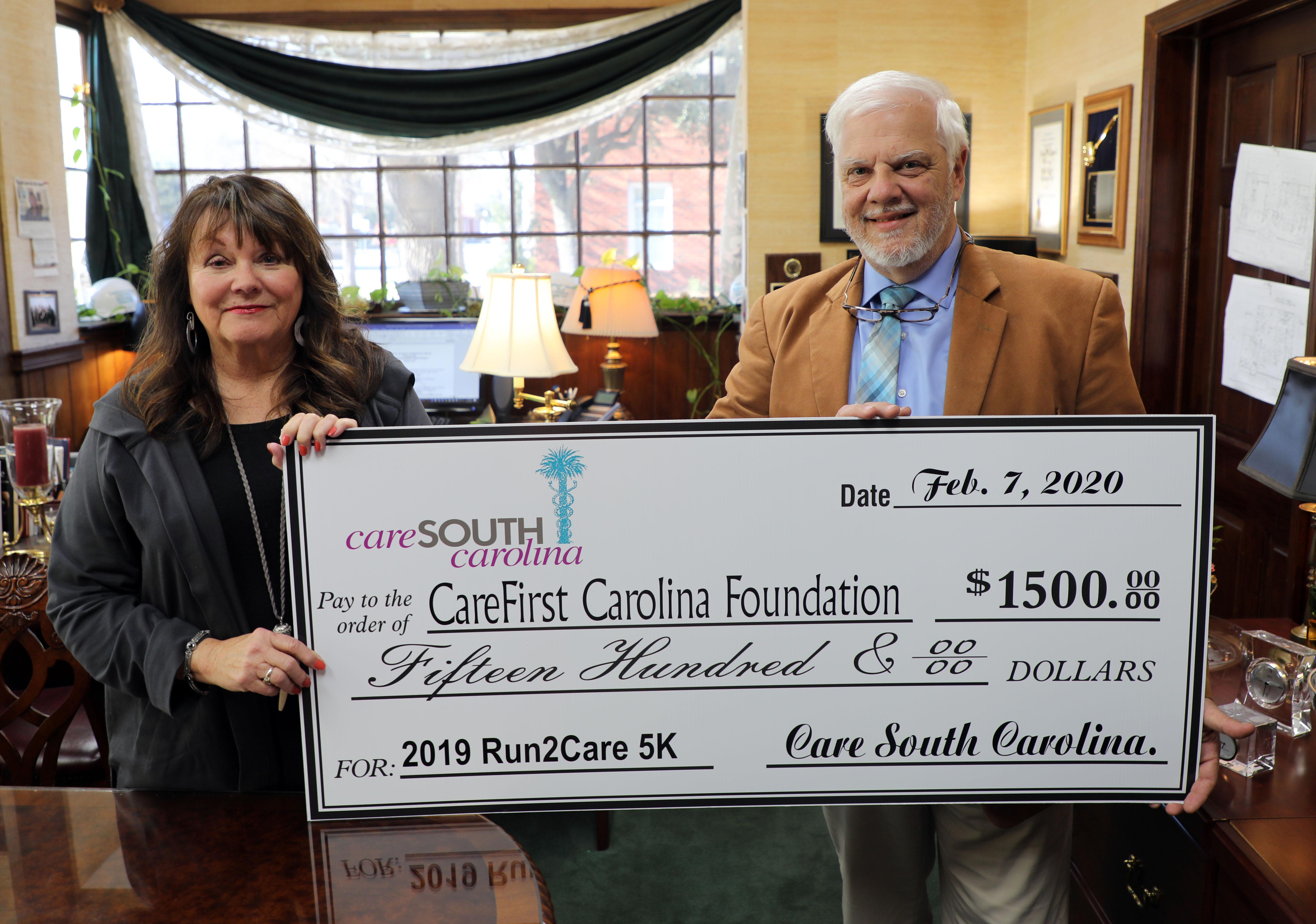 CareSouth Carolina presents $1,500 to CareFIRST Carolina Foundation