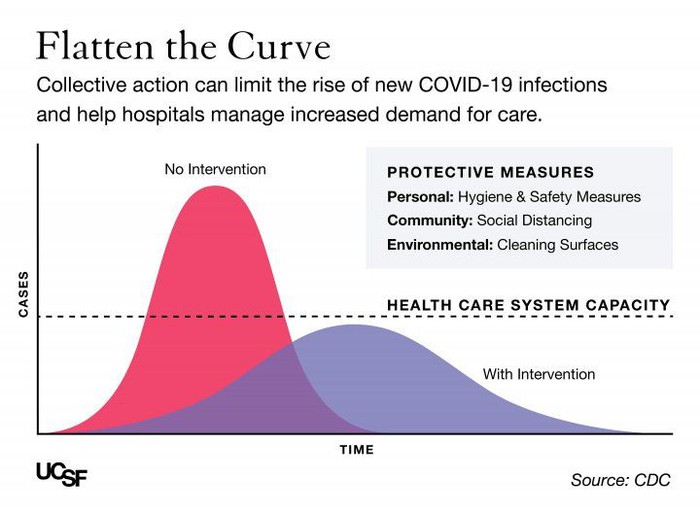 """Why outbreaks like coronavirus spread exponentially, and how to """"flatten the curve"""""""